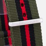 Ремешок для часов Briston NG20.GCV Green/Black/Red фото- 2