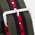 Ремешок для часов Briston NG20.GCV Green/Black/Red фото- 1