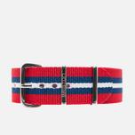 Briston NS20.BA Watch strap Red/Navy/White photo- 0