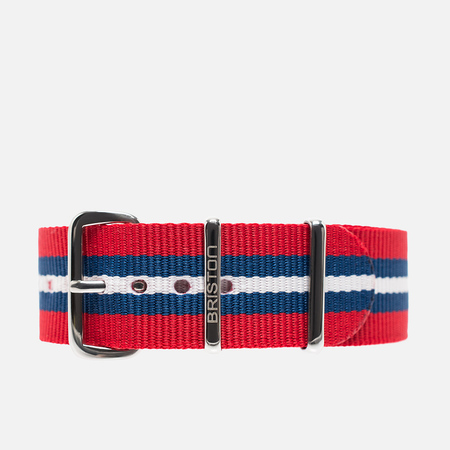 Briston NS20.BA Watch strap Red/Navy/White