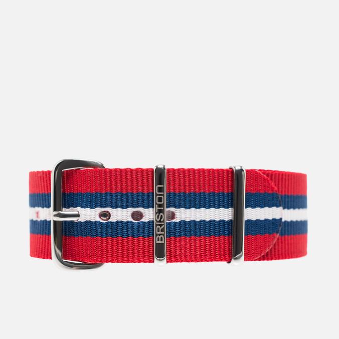 Briston NS20.BA Watch strap Red/Navy/White