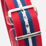 Briston NS20.BA Watch strap Red/Navy/White photo- 2