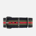 Ремешок для часов Briston NS20.GCB Black/Green/Red фото- 0