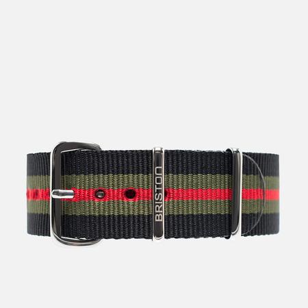 Briston NS20.GCB Watch strap Black/Green/Red