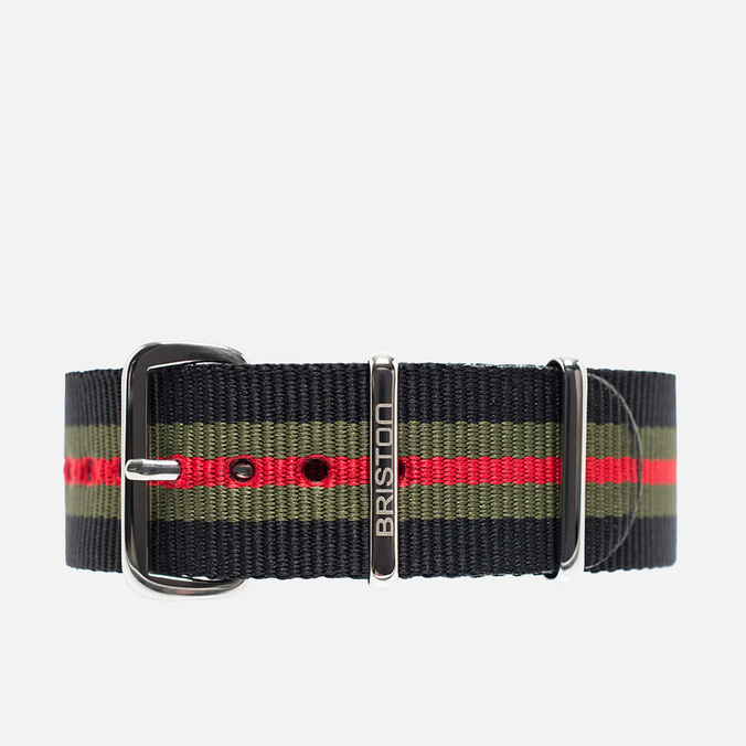 Ремешок для часов Briston NS20.GCB Black/Green/Red