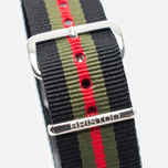 Ремешок для часов Briston NS20.GCB Black/Green/Red фото- 2
