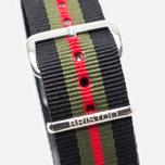 Briston NS20.GCB Watch strap Black/Green/Red photo- 2
