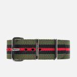 Ремешок для часов Briston NS20.GCV Green/Black/Red фото- 0