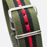 Ремешок для часов Briston NS20.GCV Green/Black/Red фото- 2