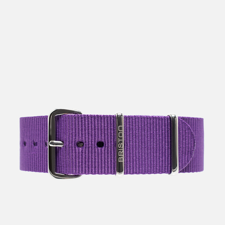 Briston NS20.PP Watch strap Purple
