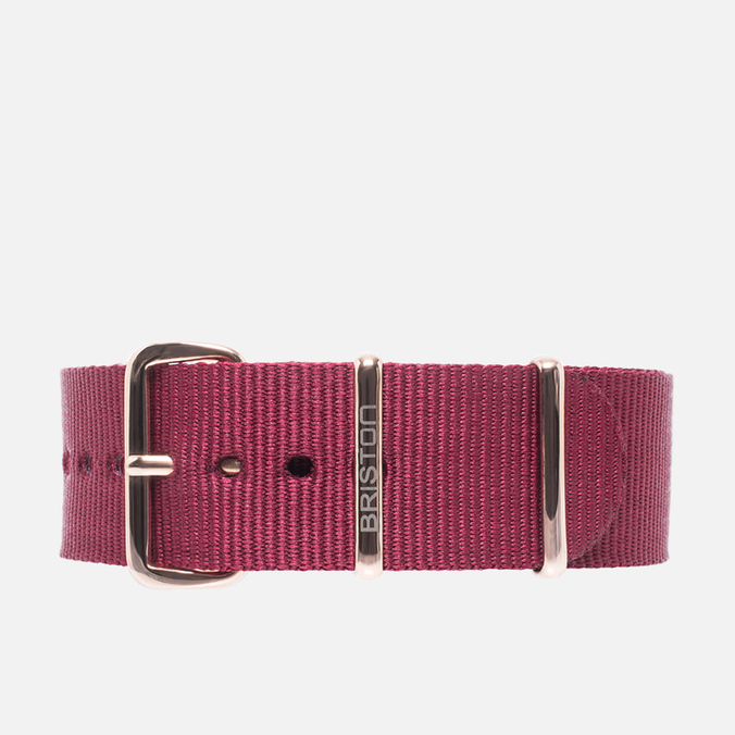 Briston NS520 Gold PVD Watch Strap Bordeaux