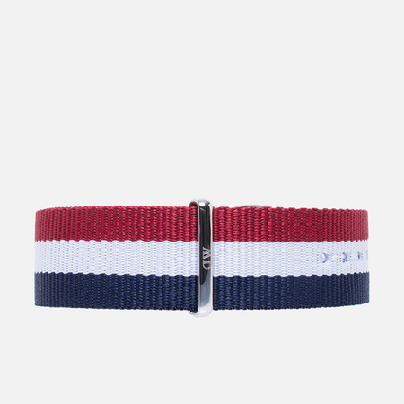 Ремешок для часов Daniel Wellington Classic Cambridge 20mm Blue/White/Red/Silver