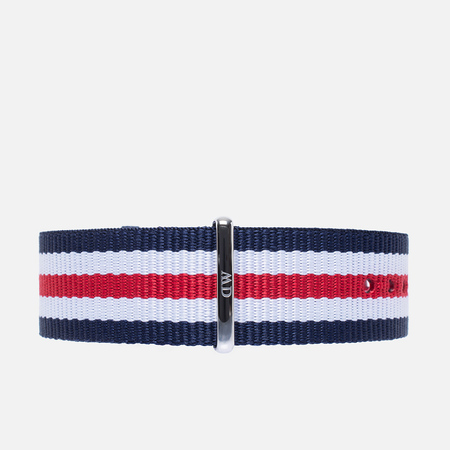 Daniel Wellington Classic Canterbury Watch Strap Blue/White/Red/Silver