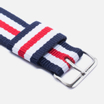 Ремешок для часов Daniel Wellington Classic Canterbury 20mm Blue/White/Red/Silver фото- 2