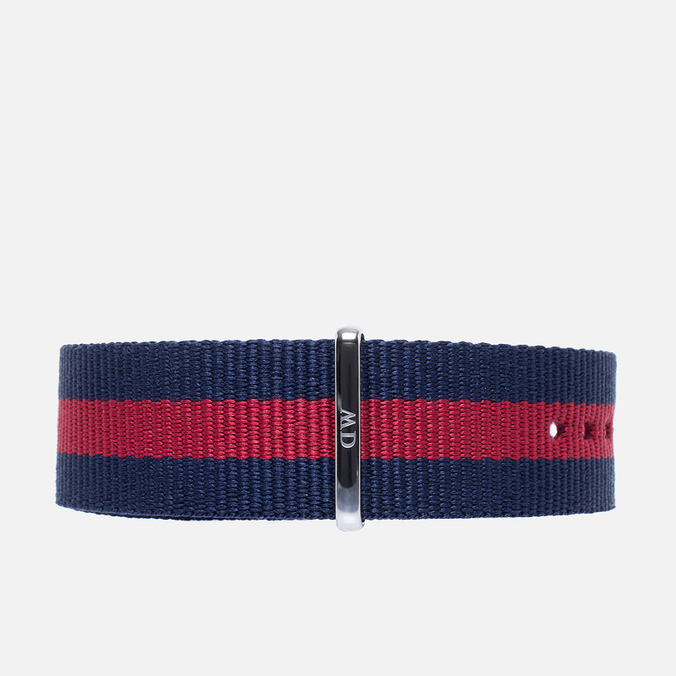 Ремешок для часов Daniel Wellington Classic Oxford 20mm Blue/Red/Silver