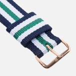 Ремешок для часов Daniel Wellington Nottigham Rose 20mm Navy/Green/White фото- 1