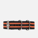 Ремешок для часов Luminox Strap FN.3950.36Q Black/Orange фото- 0