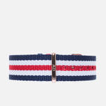 Ремешок для часов Daniel Wellington Classic Canterbury 18mm Blue/White/Red/Gold фото- 0