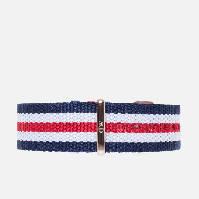 Ремешок для часов Daniel Wellington Classic Canterbury 18mm Blue/White/Red/Gold