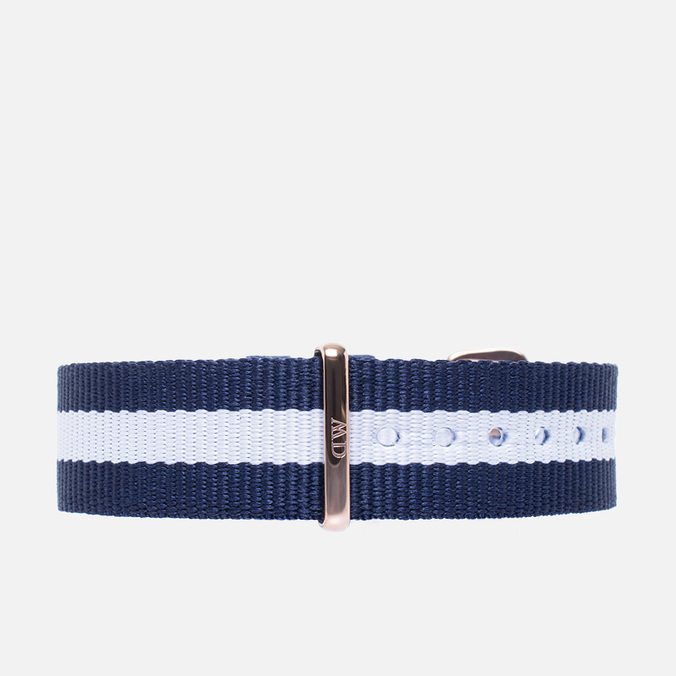 Ремешок для часов Daniel Wellington Classic Glasgow 18mm Blue/White/Gold