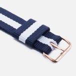 Ремешок для часов Daniel Wellington Classic Glasgow 18mm Blue/White/Gold фото- 2
