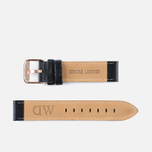 Ремешок для часов Daniel Wellington Classic Sheffield 18mm Black/Rose Gold фото- 1