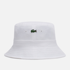 Панама Lacoste Organic Cotton Embroidered White