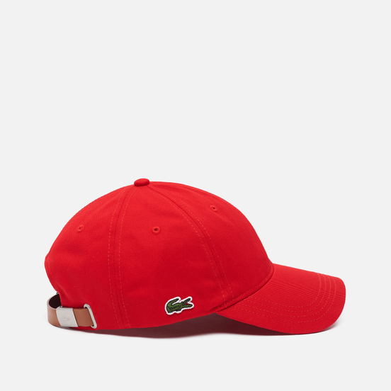 Кепка Lacoste Contrast Strap Cotton Red