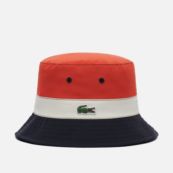 Панама Lacoste Lightweight Reversible Colourblock Beige/Navy Blue/Red