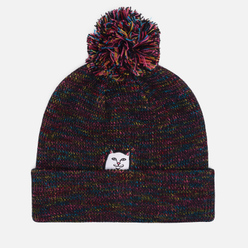 Шапка RIPNDIP Lord Nermal Pom Beanie Black/Multicolor