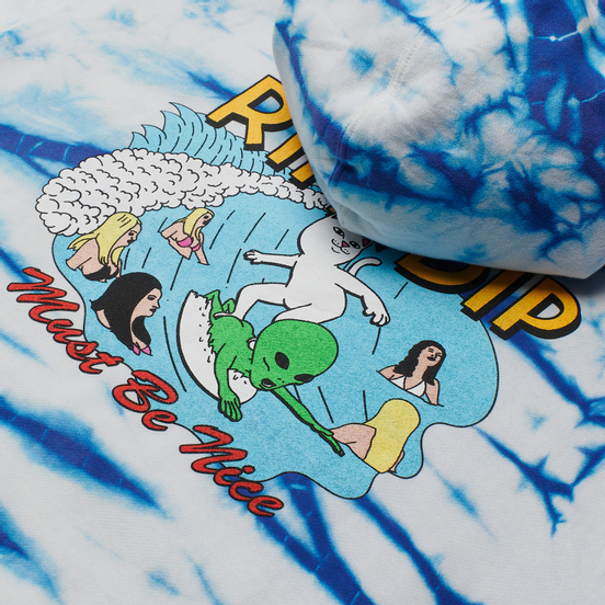 Мужская толстовка RIPNDIP Hang Ten Hoodie Baby Blue Stripe Wash