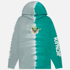 Мужская толстовка RIPNDIP Splitting Heads Teal/Grey Split Wash