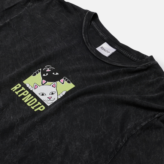 Мужской лонгслив RIPNDIP Besties Black Mineral Wash