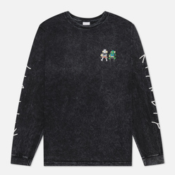 Мужской лонгслив RIPNDIP Butz Up Black Mineral Wash