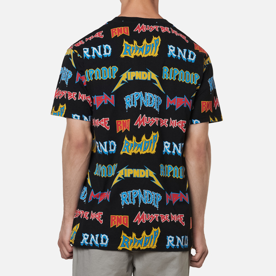 Мужская футболка RIPNDIP Rock & Nerm Black