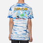 Мужская футболка RIPNDIP Hang 10 Blue/White Stripe Dye фото - 4