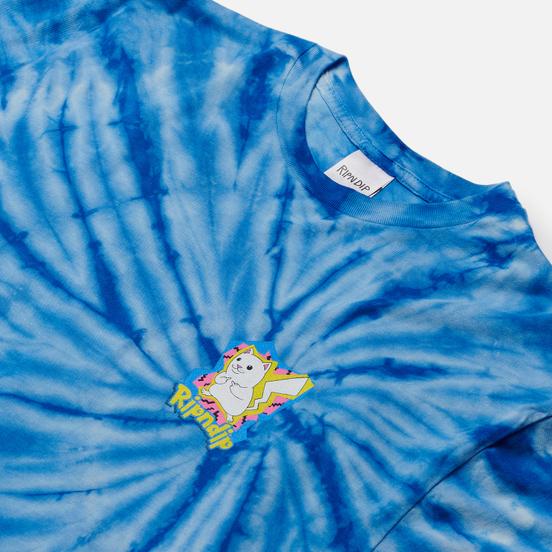 Мужская футболка RIPNDIP Catch Em All Blue Spiral Dye