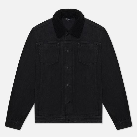 Мужская джинсовая куртка RIPNDIP Fucking Fuck Denim Sherpa Black Wash