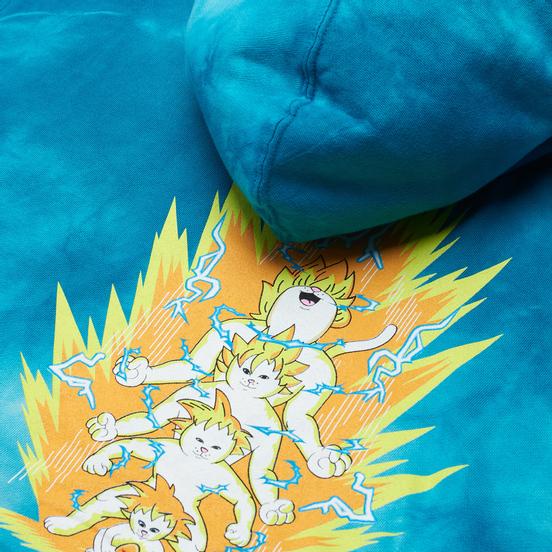 Мужская толстовка RIPNDIP Super Sainerm Hoodie Blue Acid Wash
