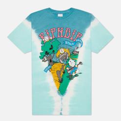 Мужская футболка RIPNDIP Band Wagon Teal V Dye