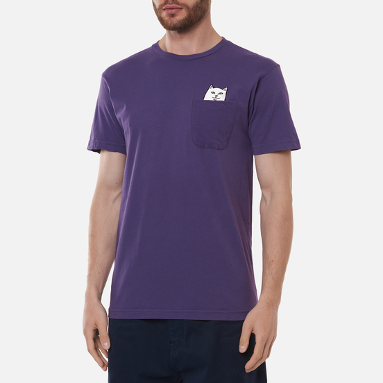 Мужская футболка RIPNDIP Lord Nermal Pocket Purple