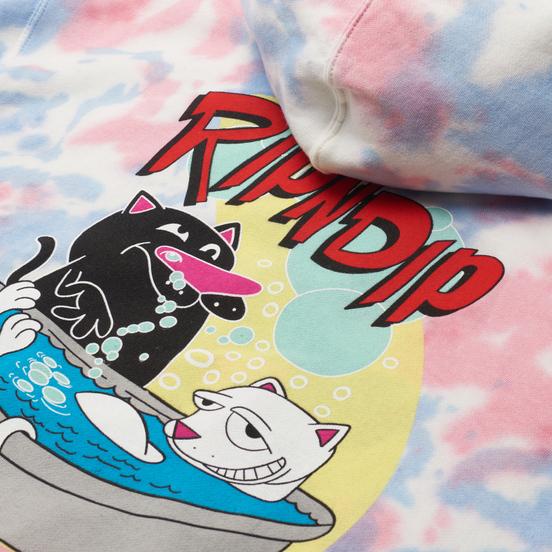 Мужская толстовка RIPNDIP Bath Time Hoodie Pink Tie Dye