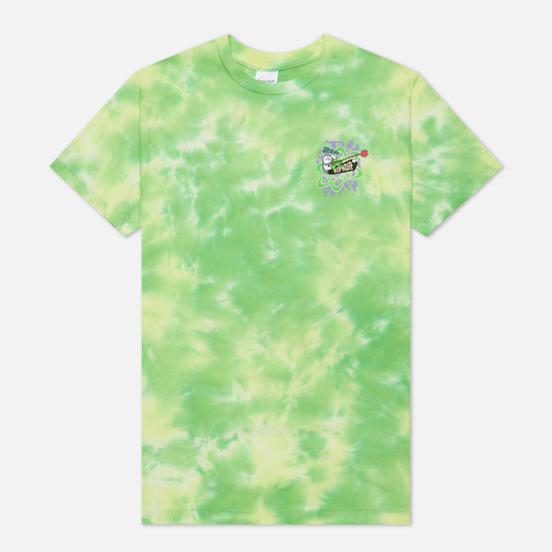 Мужская футболка RIPNDIP Astronomic Green Lightning Wash