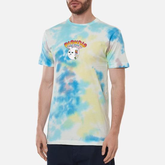 Мужская футболка RIPNDIP Out Of The Box Blue/Yellow Tie Dye