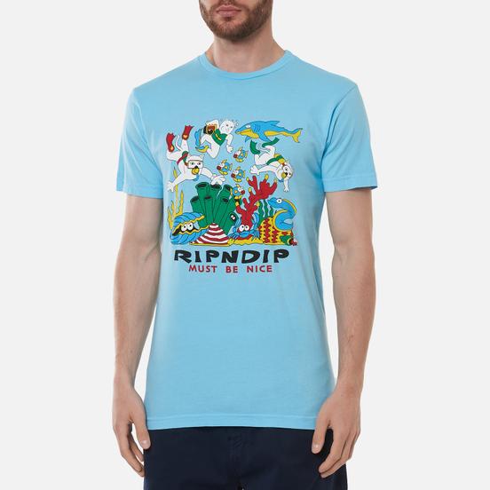 Мужская футболка RIPNDIP Under The Sea Baby Blue