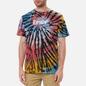 Мужская футболка RIPNDIP Rubber Logo Sunburst Spiral Tie Dye фото - 2