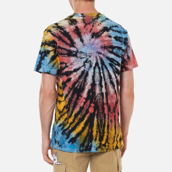 Мужская футболка RIPNDIP Rubber Logo Sunburst Spiral Tie Dye