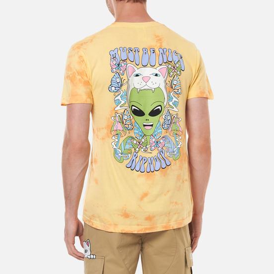 Мужская футболка RIPNDIP Think Factory Gold/Orange Cloud Wash