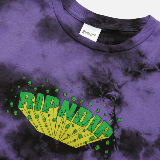 Мужская футболка RIPNDIP Nebula Purple/Black Dye