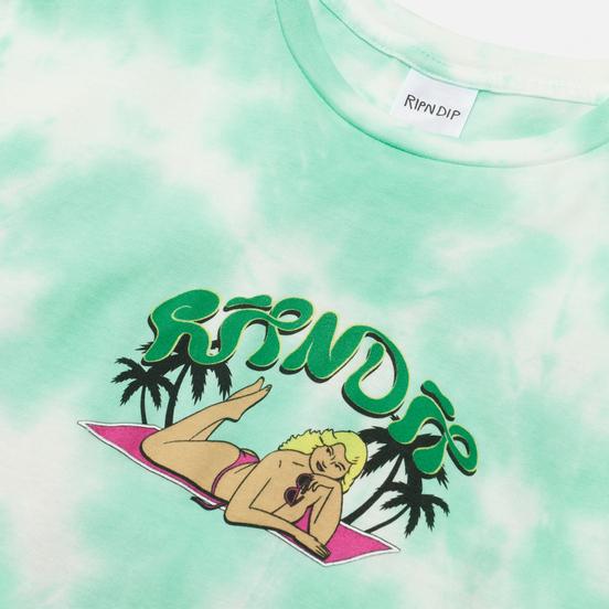 Мужская футболка RIPNDIP Nermrider Beach Mint Cloud Wash